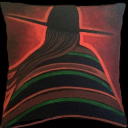 Girl On The Hill Throw Pillowsize250