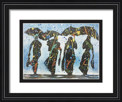 Four In The Rain Framed Small